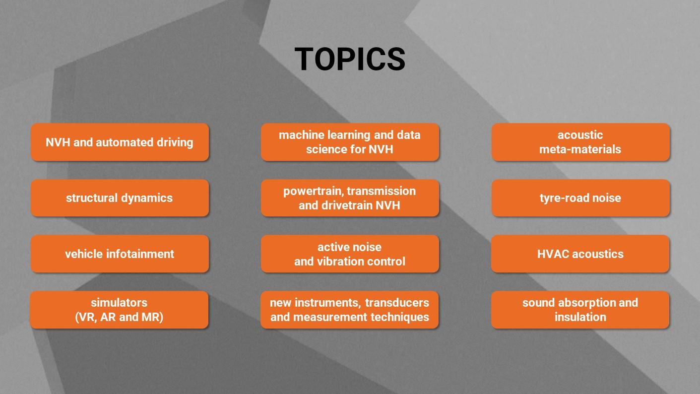 ISNVH 2022 - Topics